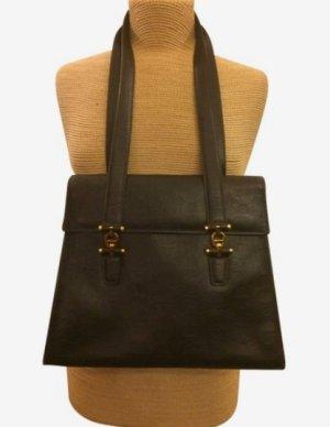 Aigner Handtasche geprägtes Leder mokka top Zustand