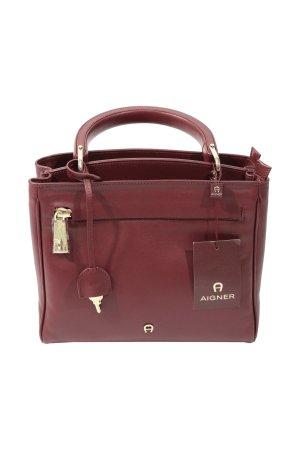 Aigner Handbag bordeaux leather