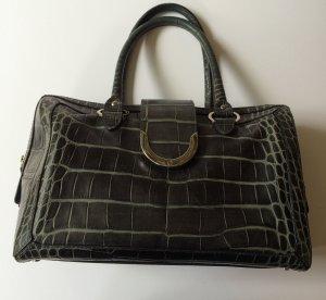 Aigner Handtasche in dunkel grau/grün