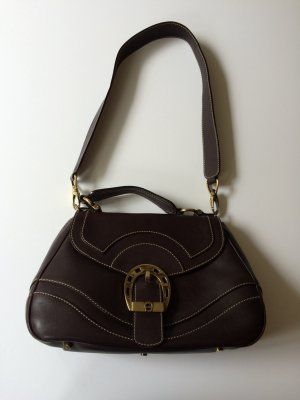 Aigner Handtasche in Dunkelbraun