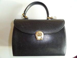 Aigner Handtasche Leder schwarz