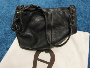 Aigner Carry Bag black leather