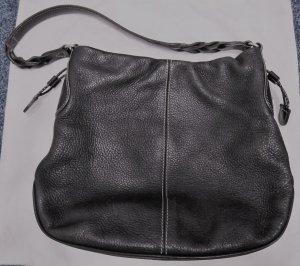 Aigner Handtasche schwarz Leder
