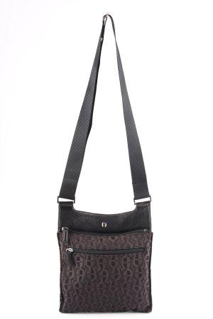Aigner Handtasche schwarz-schwarzbraun Monogram-Muster