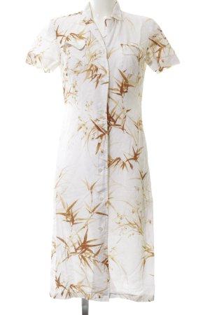Aigner Shirtwaist dress white-brown flower pattern casual look