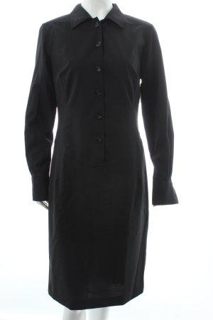 Aigner Hemdblusenkleid schwarz schlichter Stil