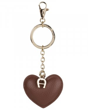 Aigner Porte-clés marron clair-brun cuir