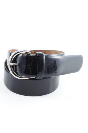 Aigner Cinturón de cadera negro estilo minimalista