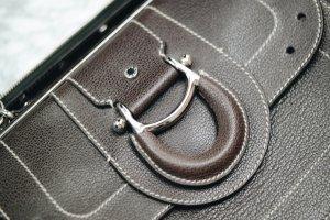 Aigner im Arztkofferstil Tasche Handtasche Damentasche braun