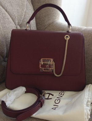 Aigner Isabella Crossbody Tasche Schultertasche neu Bordeaux Rot Weinrot Schultertasche