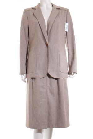 Aigner Kostüm graubraun-wollweiß Fischgrätmuster Vintage-Look