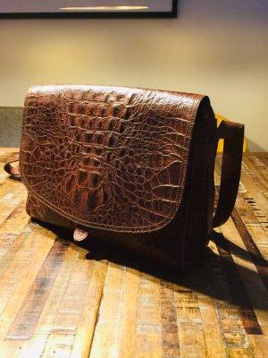 Aigner Bolso marrón-marrón oscuro Cuero