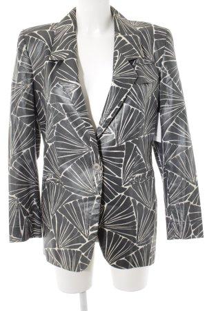 Aigner Blazer court gris-blanc cassé motif abstrait produits rétro