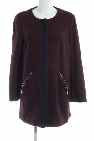 Aigner Manteau court bordeau-noir style extravagant