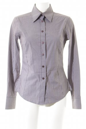 Aigner Long Sleeve Blouse grey brown-white pinstripe business style