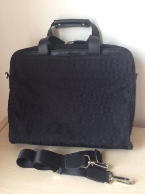 Aigner Laptop-Tasche schwarz mit Logo-Muster