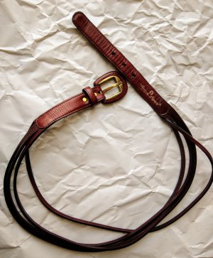 Aigner Leather Belt bordeaux-russet leather