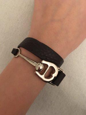 Aigner Leather Bracelet black brown