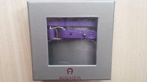 Aigner Lederarmband/Bracelet in lila