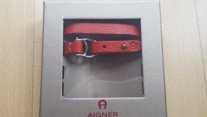 Aigner Lederarmband/Bracelet in rot
