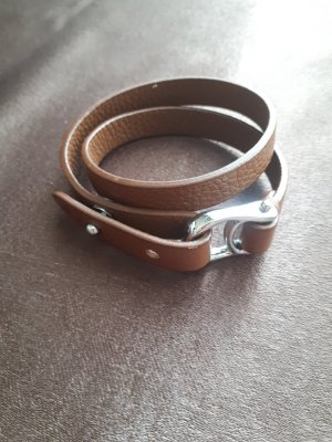Aigner Leather Bracelet brown leather