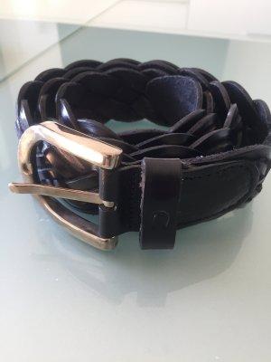 Aigner Cintura di pelle nero