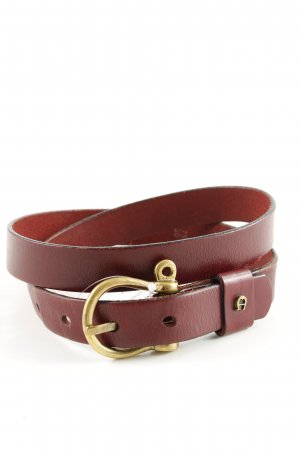 Aigner Leather Belt brown casual look