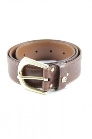 Aigner Leather Belt brown classic style