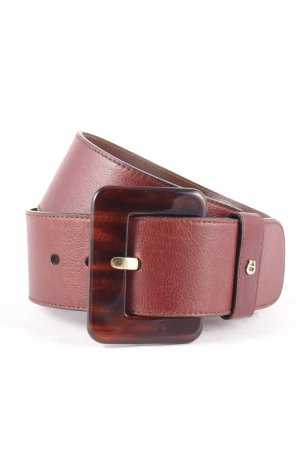 Aigner Leather Belt dark brown classic style