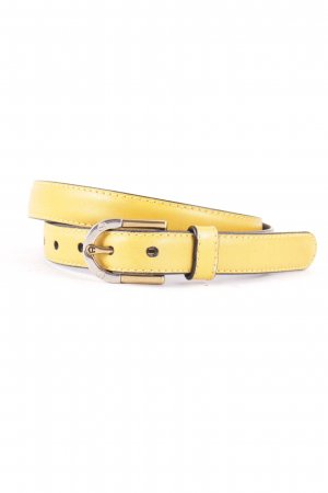 Aigner Leather Belt yellow extravagant style