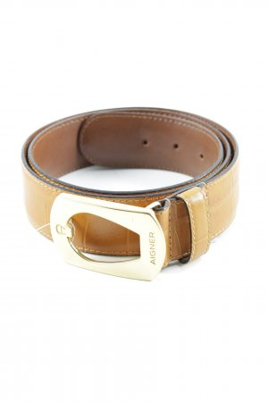Aigner Leather Belt light brown classic style