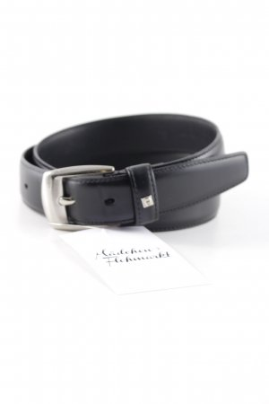 Aigner Leather Belt black simple style