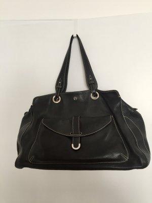 Aigner Lederhandtasche, schwarz