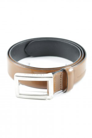 René Lezard Faux Leather Belt cognac-coloured simple style