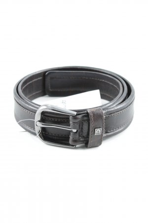 Aigner Faux Leather Belt dark brown simple style
