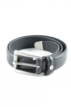 Aigner Faux Leather Belt black simple style
