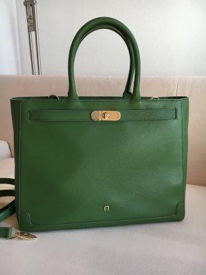 Aigner Minerva L Handtasche in grün Saffiano