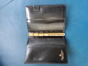 Aigner Writing Case black leather
