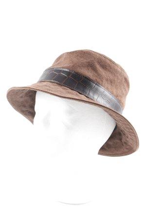 Aigner Panamahut braun-dunkelbraun Casual-Look
