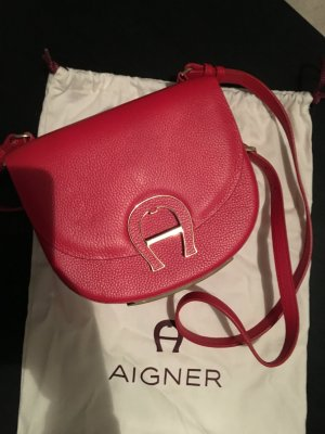 Aigner Pina Mini Leather Crossbody Bag Red