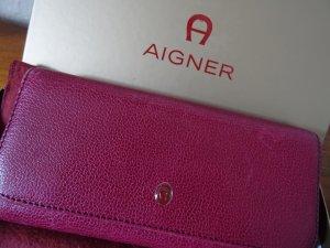 Aigner Wallet neon red-dark red