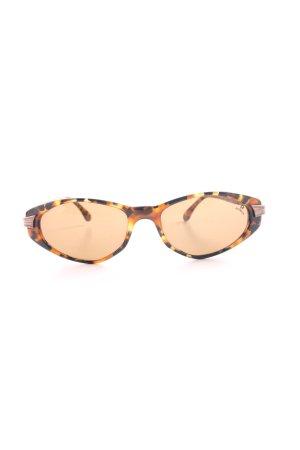 Aigner Occhiale stile retro marrone-nero Stampa leopardata stile casual