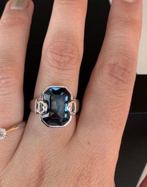 Aigner Anello di fidanzamento blu fiordaliso-grigio chiaro Metallo