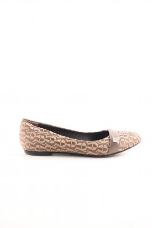 Aigner Slip-on Shoes brown-natural white allover print casual look
