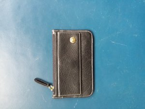 Aigner Key Case black leather