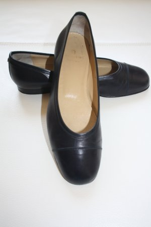 Aigner Patent Leather Ballerinas dark blue leather
