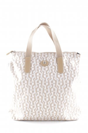 Aigner Shoulder Bag sand brown-natural white casual look