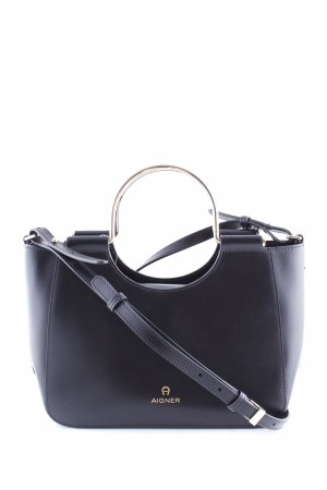 Aigner Shoulder Bag black-gold-colored casual look
