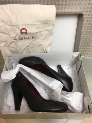Aigner Pumps black-red leather