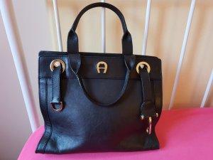 Aigner schwarzes Leder Handtasche